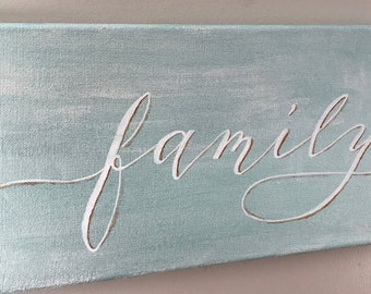 Family Sign on Canvas