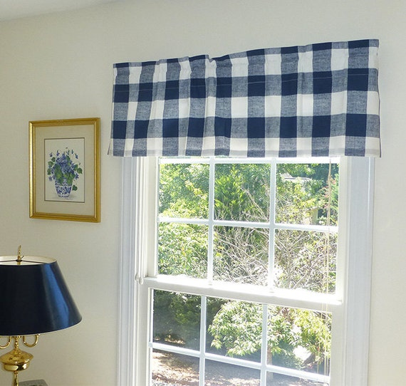 Farmhouse Curtains Farmhouse Valance Kitchen Curtains