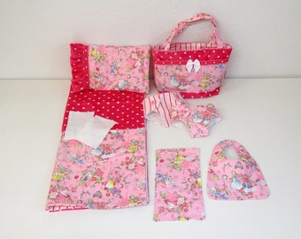 Bitty Baby Basics in Princess Cuties - Diaper Bag and Diapers with Blanket and Pillow for doll