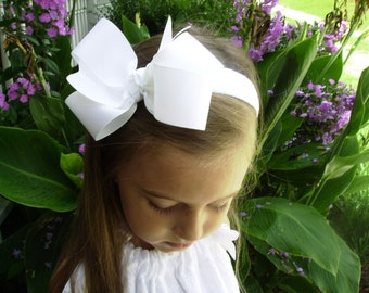 Portrait White, Headband, Hair Bow, Girls Head Band, Pictures Basic, Simple Custom, Boutique Kids, School Uniform, Beach, Easter, Hairbow