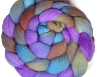 Handpainted Targhee Wool Roving - 4 oz. CALYPSO- Spinning Fiber
