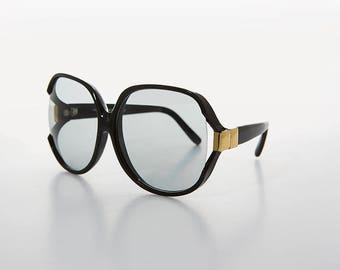 Huge Glam Women's Sunglass /Transition Glass Lens/Disco/80s/Oversized- Phyllis