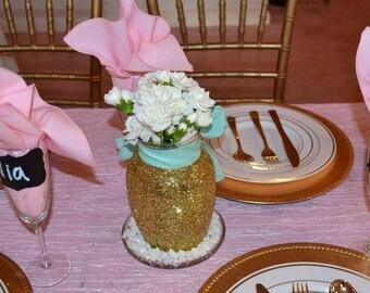 Gold Centerpiece, Vase
