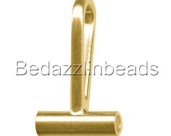 Gold Plated Horizontal Brooch Converter for Changing Pins To Pendants