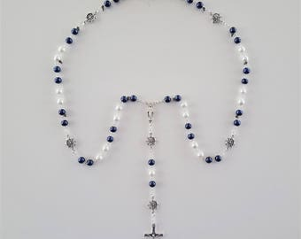 Navy / White Nautical Rosary