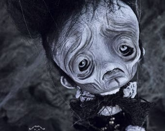 EXTRA SALE!! - Alexander Moronalways - art doll, puppet, ghost, ghosts, ghost stories, monster, whimsical, ooak pure sculpt, halloween doll,