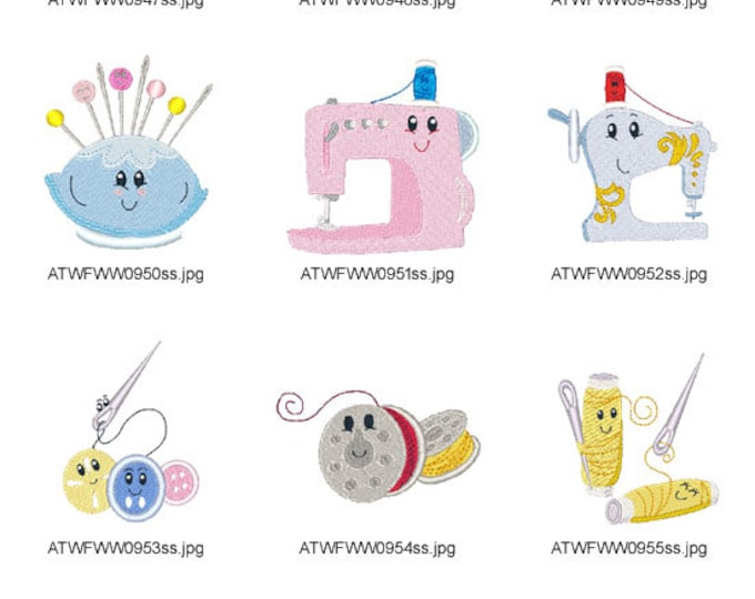 Sewing-Friends ( 10 Machine Embroidery Designs from ATW )