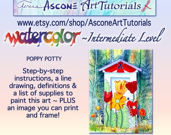 Ascone Intermediate Watercolor Tutorial-Poppy Potty