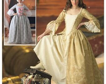 Simplicity 4092 Misses' 18th Century Dress Costumes