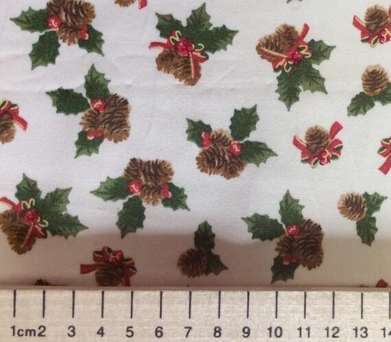 High quality cotton poplin, Christmas print on white