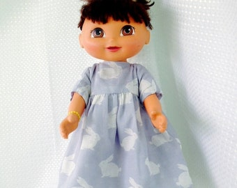 Handmade reversible dolls clothes, doll outfit, 2 outfits in one. To fit 15 to 18 inch dolls,  cloth dolls and my own handmade  rag dolls.