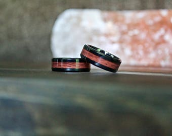 Wood Ring, Tungsten Carbide Wood Ring, wooden ring, Mens Wood Ring, wooden rings, wedding band, Wood rings for men, Wood Inlay ring