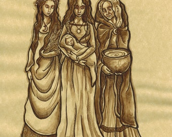 Maiden, Mother, Crone (Original ink)