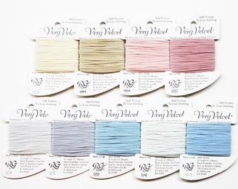 Very Velvet Yarn 3.25 Each, Rainbow Gallery Very Velvet Thread, Needlework Yarns, Needlepoint Yarns, Velvet Threads, Velvet Yarns, Velour