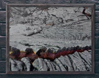 Lava at Volcano National Park: Big Island, Hawaii Photo Print
