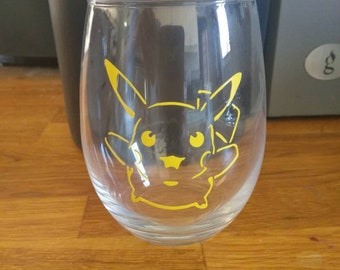 Pokemon pikachu wine whisky glass