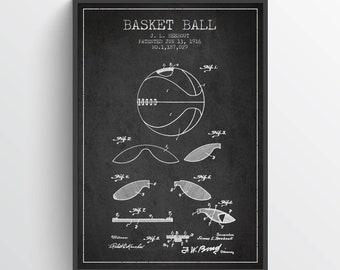 1916 Basket Ball Patent Poster, Basket Ball  Poster, Basket Ball Art Print, Basket Ball Wall Decor, Home Decor, Gift Idea, SA09P