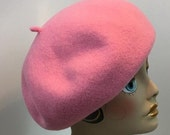 Beret Woman's Wool Light Pink Hand Blocked  French Garbo Dietrich 1930's Look