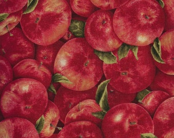 Fresh Red Apples fabric by Kaufman
