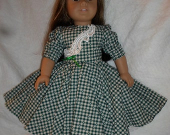 """18"""" Doll Clothes, Handmade, One of a Kind, Vintage Bridal Trim,  Dress, Very Full Swing Dress"""