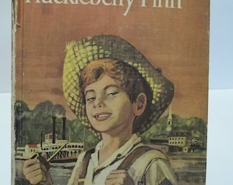 Vintage 1963 Companion Library Huckleberry Finn and Tom Sawyer Tales 2 Books in 1