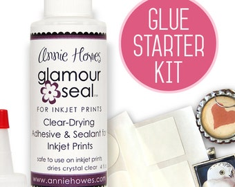 Glue Starter Kit for Inkjet Prints. Glamour Seal and Glamour Stickies. Works better and dries faster. Get Professional Results.