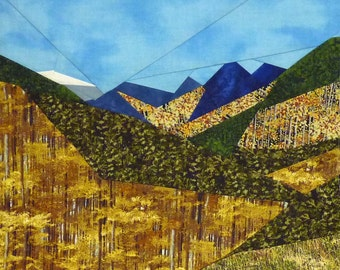 Fall Time Mountains quilt pattern - ON SALE