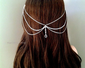 Pearl Gold Rose gold or Silver bridal silver head hair