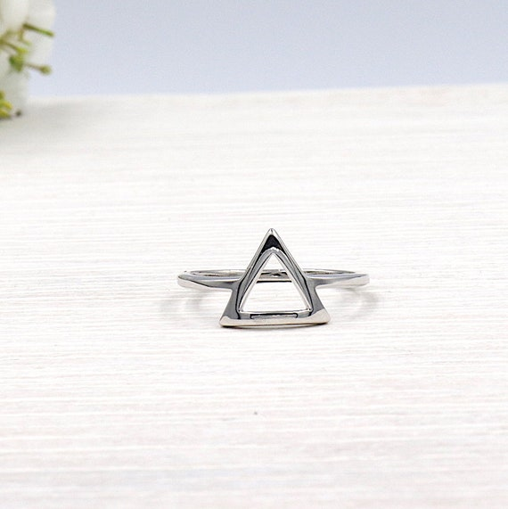 Triangle Silver 925 women ring