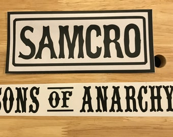 motorcycle sons of anarchy biker car decal, your choice of style