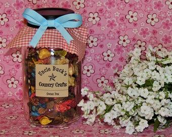 Sweet Pea Scented Potpourri Mason Jar, Aromatic, Fragrance, Perfume, Botanical - Fragrance, Gift, Decor, Home, Dried Botanicals