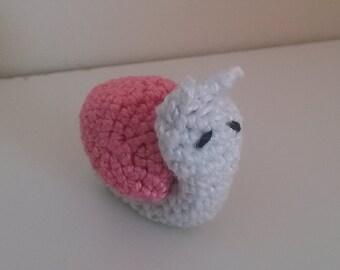 Miniature Crocheted Snail