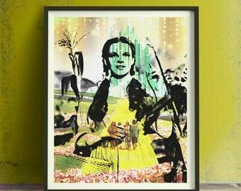 Judy Garland Wizard of Oz Art Print or Canvas, Wall Art, Artwork, Gift