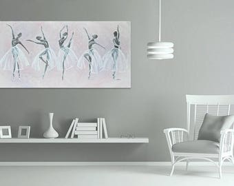 """Purple and Silver Ballerina Painting 