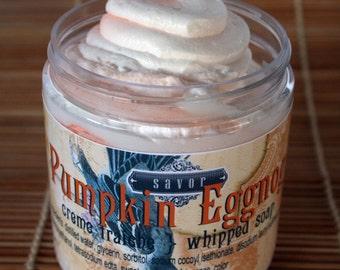 Pumpkin Eggnog Creme Fraiche Whipped Soap 8 oz