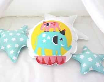 Round cushion / Round pillow / Decorative pillow / Kids pillow / Nursery decor / Kids room / Nursery