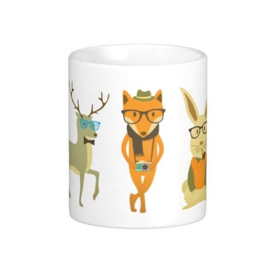 Coffee Mug Hipster Animals Mug