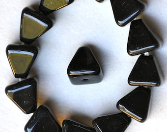 8mm x 8mm Czech Glass Pyramid Bead - Various Colors Matte or Shiny - Qty 20 or 60