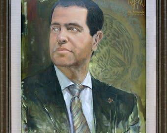 Oil portrait by custom order custom-made