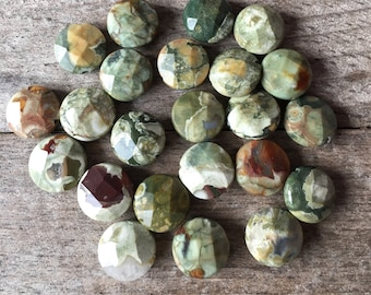 Faceted Rhyolite BEADS (23)