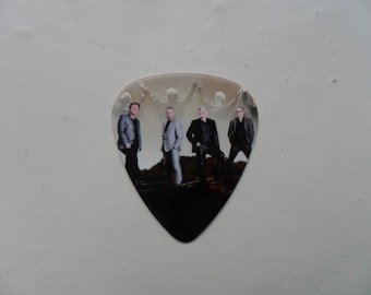 Handmade THE EAGLES  Double Sided Guitar Pick // Plectrum Decorated Leather Necklace