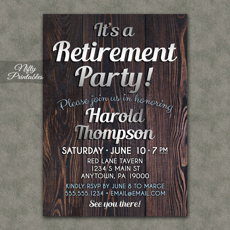 It's just an image of Tactueux Free Printable Retirement Invitations