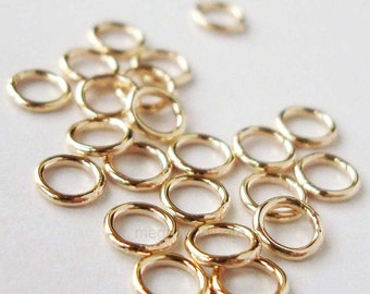 4mm 22 Gauge Closed (Soldered) Jump Rings 14/20 Gold Filled F29GFC