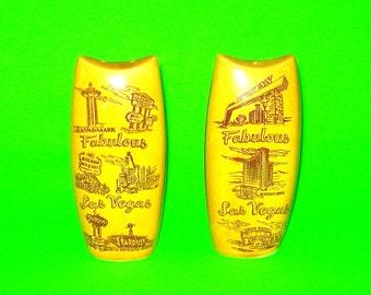 Vintage Fabulous Las Vegas Ceramic Salt and Pepper Shakers