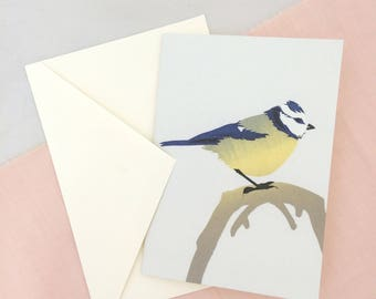 Blue Tit Card | Bird Card | Bird Greetings Card | Bird Birthday Card | Anniversary Card | Bird Art | Bird Print | British Bird Art | Card
