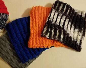 Crocheted Mens Neckwarmer
