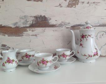 Mitterteich Bavaria porcelain - Bavaria Porcelain - Vintage porcelain - 8 pc tea set - Vintage coffee or tea set