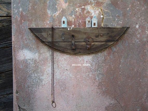 Appendiabiti legno di recupero attaccapanni rustico legno - Portafortuna casa nuova ...