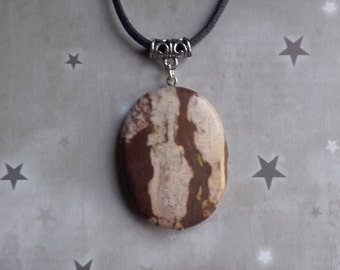 Brown Zebra Jasper Gemstone Necklace