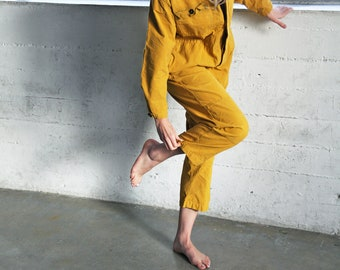 Mustard Utility Coveralls